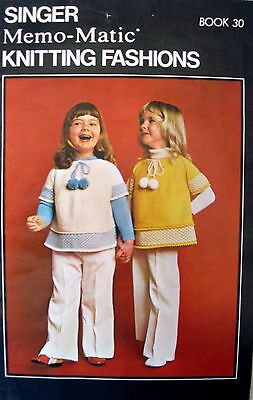 SINGER MEMO-MATIC KNITTING FASHIONS - Book No.30 with 6 toddlers' patterns - AC