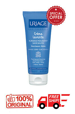 URIAGE BEBE 1st Creme lavante 200ml nourishes CLEANSES SOFTENS FACE BODY SCALP