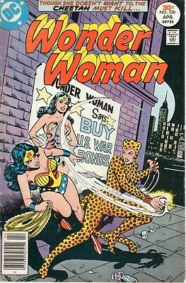 Wonder Woman no 230 1977 Claws of the Cheetah (Catfight Cover and Inside) Fine