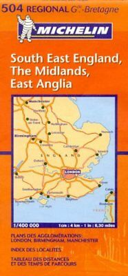 404 Michelin South East//Midlands//East Anglia Great Britain Map No
