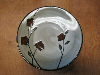 """Sonoma Life+Style SANTA ROSA Dinner Plate 11 1/2"""" Red Flowers 1 ea  8 available"""