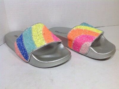 8684fb19609d Steve Madden Girls Size 2 Prisma Rainbow Casual Sandals Slides Shoes ZS-777