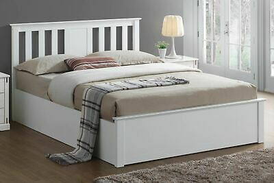 Chester White Ottoman Storage Bed Frame - 5ft King Size