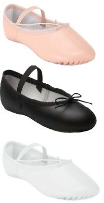 Ballet Dance Leather Shoes Full Sole Children's & Adult's Sizes