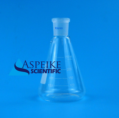 250ml,Glass Erlenmeyer Flask,Groud Joints 24/40,Laboratory Triangle flasks S