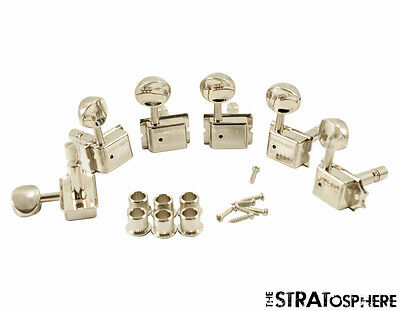 Nickel SD9105MN DR Kluson 6-In-Line 1960/'s Double Line TUNERS SET of 6