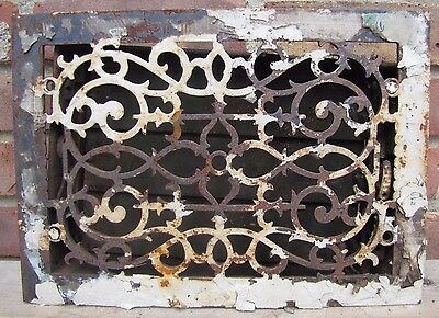 Antique Cast Iron Ventilation Grate old architectural building hardware vent 4