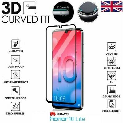 For Huawei Honor 10 Lite Full 3D Tempered Glass 9H Screen Protector Cover