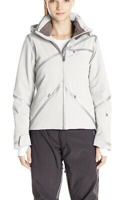 NWTs Spyder Women s Radiant Insulated Ski Jacket. Sz.20. White Silver. 363e2aefe