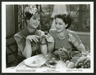 """NORMA SHEARER + ROSALIND RUSSELL Original Vintage 1947 MGM Photo """"THE WOMEN"""""""