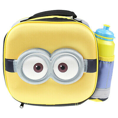 Despicable Me Minions 3D Thermal Insulated Kids School Lunch Bag With Bottle Set