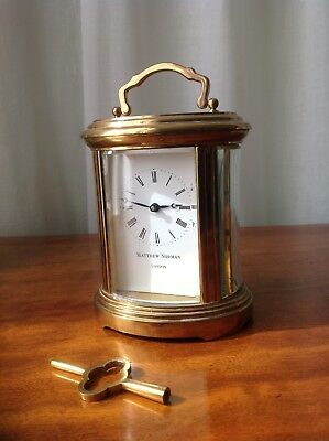 Antique Matthew Norman 8 Days Brass Carriage Clock