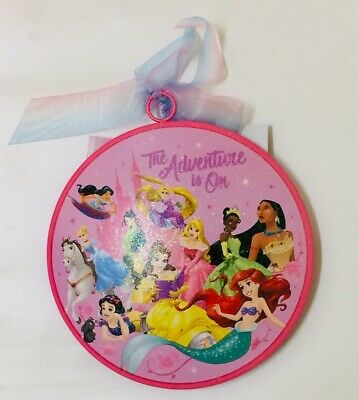 BNWT Disney Parks Princess The Adventure is On Metal Christmas Holiday Ornament