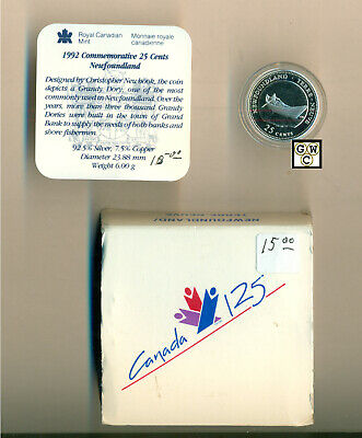 1992 * Newfoundland * Canadian 25 Cents Proof Sterling Silver Coin (OOAK)