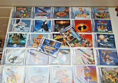GBA manualsn LOT 27 manuals! EUR versions + protector sleeves gameboy advance