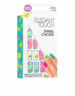 1 x Pack Elegant Touch False Nails - Spring Chicken (24 Nails)