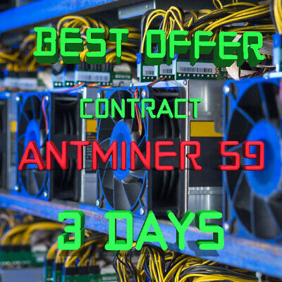 Ƀ💲✅⚡ 3 days 72 Hours Mining Contract 13.5 TH/s AntMiner S9 Bitmain BITCOIN BTC