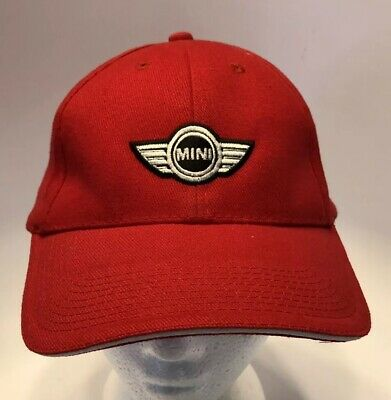506dd89747a Red Mini Cooper Mini of Omaha Baseball Hat w  Adjustable Strap Embroidered  Logo