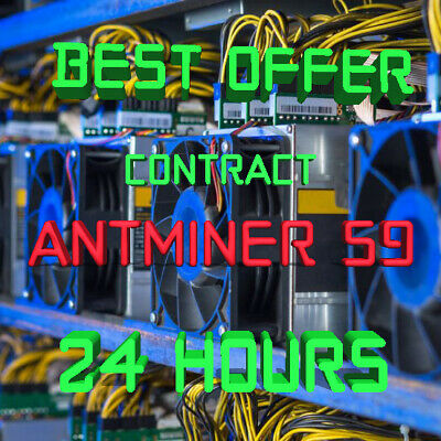 Ƀ💲✅⚡️ 24 Hours Mining Contract - 14.5 TH/s AntMiner S9 Bitmain BITCOIN BTC