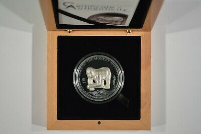 2016 Mongolia 500 Togrog Year of the Monkey High Relief 25 Gram Silver