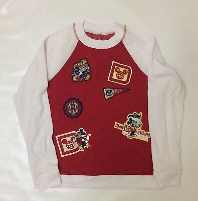 BNWT Disney Parks Walt Disney World Mickey 1971 Ladies Long Sleeve Top Sz L Red