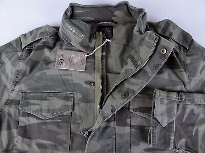 1627940f3 LUCKY BRAND M-65 Camo Military Field Jacket NWT $149 Cotton Stretch Coat w/  Hood