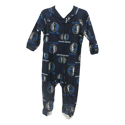 Dallas Mavericks Official NBA Apparel Baby Infant Size Pajama Sleeper Bodysuit