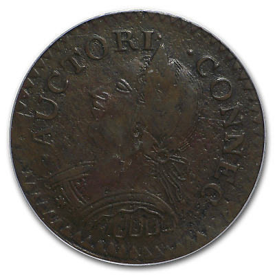 1787 Connecticut Cent Mailed Bust Left VF-35 PCGS - SKU#182885