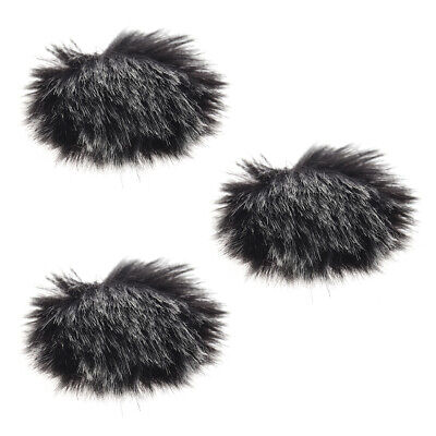 Furry Outdoor Microphone Windscreen Muff Mini Lapel Lavalier Microphone R0U5