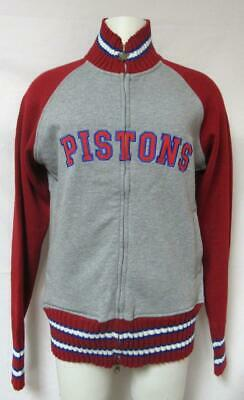 Touch by Alyssa Milano Detroit Pistons Womens Large Full Zip Sweater A1 1575