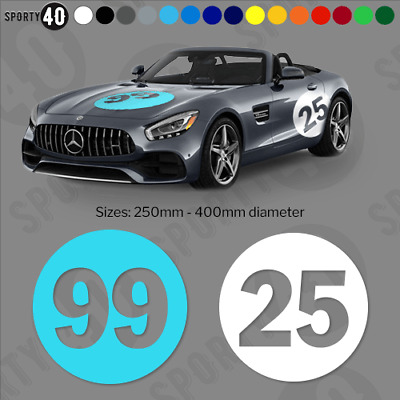 Round Number 1 x Vinyl Decals / Stickers  5 Sizes  Car Racing Classic 2325-0219
