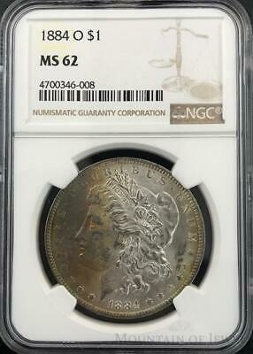 1884-O Morgan Dollar $1 Dollar NGC Graded MS62 Silver Coin (CO-DU-4700346-008)