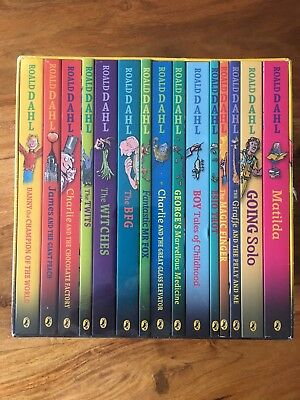 Roald Dahl 15 Boxed Box Set Book Collection BFG Matilda Witches Boy Danny New ;