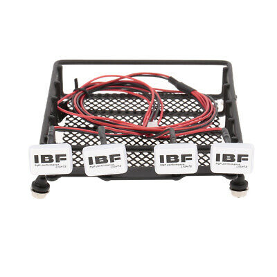 Roof Rack Luggage Carrier with Square Light Bar for 1/10 RC Crawler Axial A1X2