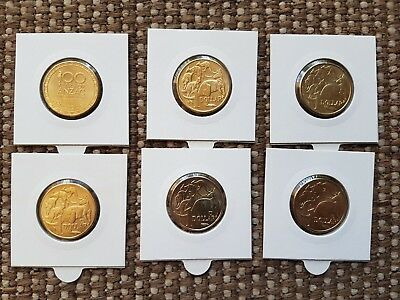 2019 $1 Mob Of Roos A/u/s With 2016 $1 Changeover,2015 $1 Anzac And 2014 $1 Mob