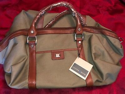 Cutter   Buck Weekender Leather Canvas Duffel Bag plus toiletry bag NWT NEW e706f36397a7b