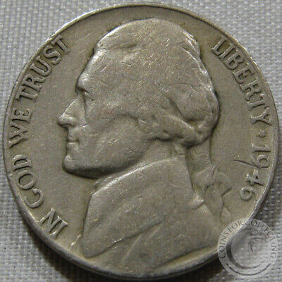 1946 D Jefferson Nickel Finish Your Book With This Circulated Coin #5230