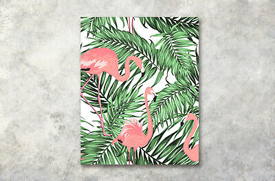 Tropical Leaves Flamingo Abstract Wall Oil Photo Print Painting Canvas Unframed