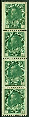 EDW1949SELL : CANADA Sc #131 Fresh, Beautifully centered Strip of 4. MNH Cat $60
