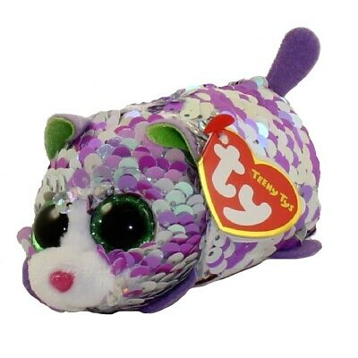 f4644c4f8aa TY Beanie Boos - Teeny Tys Stackable Sequin Plush - LILAC the Cat (4 inch