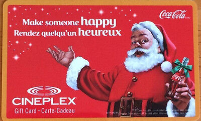 Collectible Cineplex Santa Coca-Cola Gift Card....no Value...eng/fr