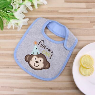 Cute Baby Cotton Waterproof Bib Kids Infant Lunch Dinner Apron Soft Saliva Towel
