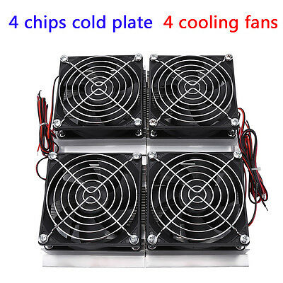 240W Semiconductor Refrigeration Thermoelectric Peltier Cold Plate Cooler Fan GS