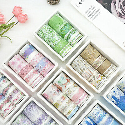 Premium 10Pcs/Set Washi Tape Rolls Decorative Sticky Paper Masking Adhesive Tape