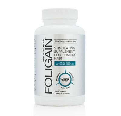 FOLIGAIN STIMULATING REGROWTH, HAIR GROWTH / HAIR LOSS SUPPLEMENT - 60 Caplets
