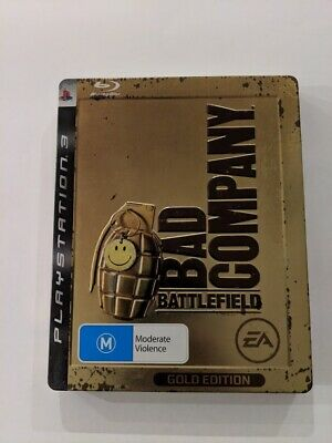 Battlefield Bad Company RARE Gold Edition Steelbook (PS3 Game). Free Shipping!