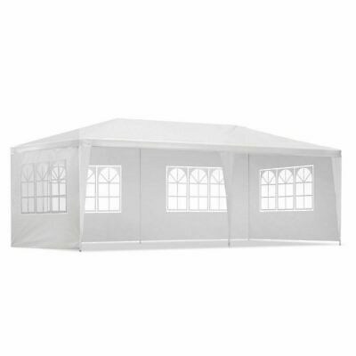 Instahut 3x6m Gazebo Party Wedding Marquee Event Tent Shade Canopy Camping White
