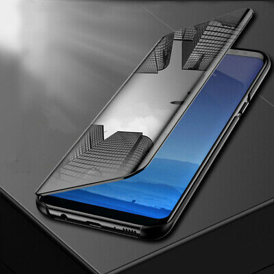 Transparent View Mirror Leather APP Smart Flip Case Cover Fit Samsung M10 M20