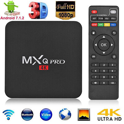 MXQ PRO 1G+8G Android 7.1 Quad Core Smart TV Set-top Box 4Kx2K WIFI Media Player