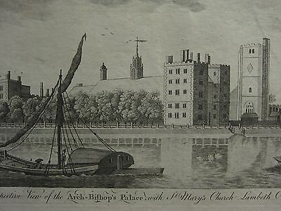 C1770 Antique Imprimé~ Vue Du The City Of Arch-Bishops Palace st Marys Église